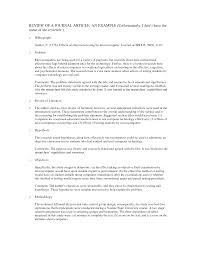 sample article critique apa format best photos of journal article critique research article critique