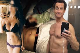 Anthony Weiner sexted busty brunette while his son was in bed with.