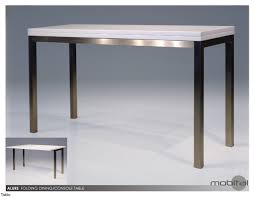Alluring Folding Table With Cool Stainless Steel Legs White Top In  Rectangle Design Ideas Hi Bases