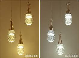 led modern jellyfish bubble crystal ceiling light bar pendant lamp bar lighting