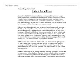 essay on animal farm by george orwell essay on animal farm by george orwell 1117 words bartleby