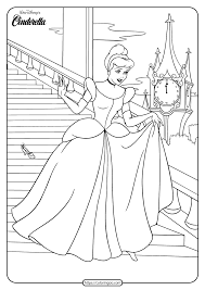 Cinderella coloring pages are set of pictures of a beautiful princess who follows the fortunes of young ella whose merchant father remarries following the death of her mother. Printable Cinderella Coloring Book And Pages 01
