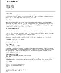 Linux Administrator Sample Resume Amazing Resume Objective Examples Network Administrator As Well As