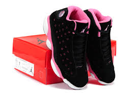 jordan shoes for girls black and pink. girls air jordan 13 retro suede black pink for sale-4 shoes and o