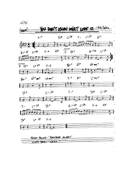 You Don T Know What Love Is Chart The Chicken Sheet Music Pdf