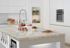 quartz countertops contain a ratio of 93 crushed quartz and 7 resin they re just as durable and attractive but also equally expensive