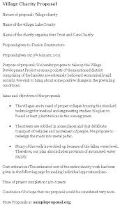 Cost Proposal Templates Excellent Village Charity Proposal Template Example With Aims And 83