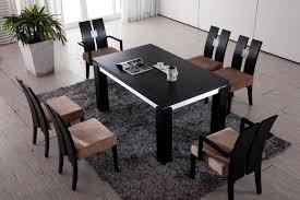 black modern wood dining table