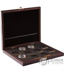 wooden case box queen beasts series 1 oz display 10 platinum coins holder