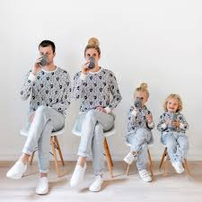 family matching outfits look shark