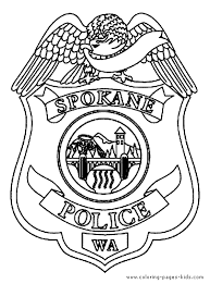 Police Color Page Family People And Jobs Coloring Pages For Kids