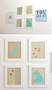 diy glittery animal print wall art click for 25 diy nursery decor ideas diy on toddler boy wall art ideas with 25 diy nursery decor ideas for your little darling