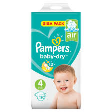 Pampers Baby Dry Nappies Size 4 120 Giga Pack Costco Uk