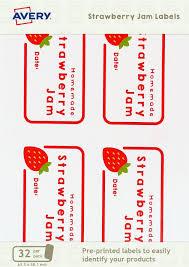 Avery Jar Labels Strawberry Jam Jar Labels
