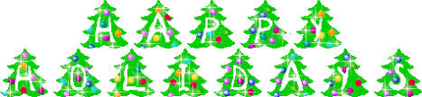 happy holidays banner gif. Delighful Banner Christmas Trees  Happy Holidays On Banner Gif 0
