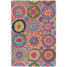 colorful rugs. Merry Go Round Bright Micro Hooked Wool Rug Colorful Rugs
