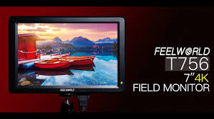 """<b>FEELWORLD T756 7</b>"""" 4K On-camera Monitor with HDMI Input ..."""