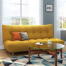 sofa bed design. Palermo Sofa Cum Bed (Yellow) By Urban Ladder Design