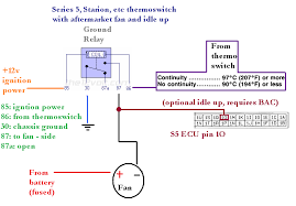 spal thermo fan wiring diagram diagram how to control an electric fan a factory thermoswitch