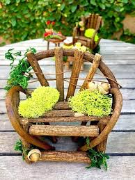 furniture fairy. Miniature Furniture For Fairy Gardens Garden Set Bench And Chair .