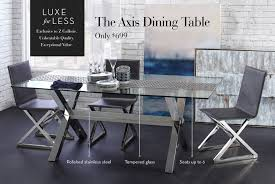 luxe for less the axis dining table