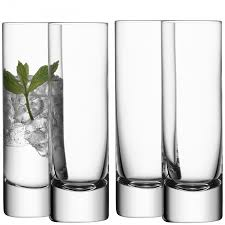 long drink glass x  clear handmade glass bar collection ml