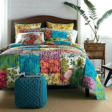 Tropical Bed Comforter Sets Tropical Bed Quilts Tropical Print ... & ... Get This Colorful Flower Power Party Patchwork Tropical Quilt Set  Featuring Beautiful Patchwork Designs That Tropical ... Adamdwight.com