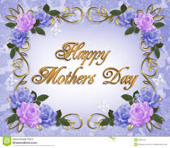 mother day card design mothers day card roses lavender blue stock illustration