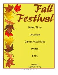 Free Printable Flyer Templates Word Decorated with colorful leaves in red yellow orange and brown 19