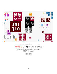 uniqlo competitive analysis by chena issuu
