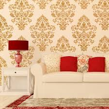 damask wall stencil pattern ludovica for diy home decor wallpaper look damask wall stencil pattern ludovica for diy home decor wallpaper look