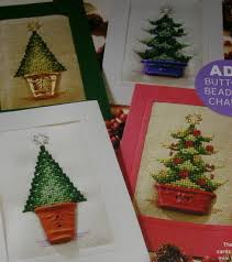 Christmas Tree Cross Stitch Chart Four Christmas Tree Cards Cross Stitch Charts