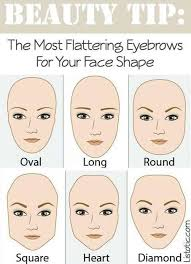now if i can just figure out what shape my face is eyebrow shape to pliment your face shape