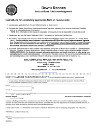 Requesting A Death Certificate Top 6 Death Certificate Request Form Templates Free To