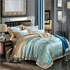 blue and gold comforter set king park signature bedding the home decorating