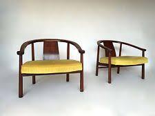 pair 2 mid century horseshoe lounge chairs modern asian james