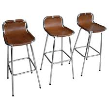 charlotte perriand leather barstools for les arc ski resort france 1960s at 1stdibs leather bar stools l42