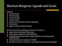 harrison bergeron by kurt vonnegut jr ppt video online  harrison bergeron agenda and goals