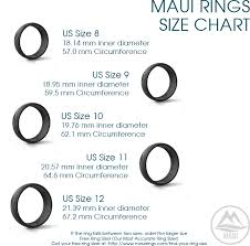 Free Ring Size Chart Adventure Glow In The Dark Silicone Ring