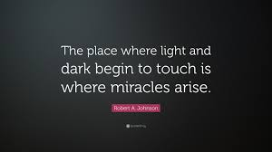 """Light And Dark Quotes Unique Robert A Johnson Quote """"The Place Where Light And Dark Begin To"""