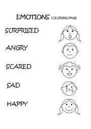 Small Picture English worksheets Emotions Feelings Coloring Page