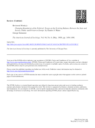 Pdf Changing Boundaries Of The Political Essays On The