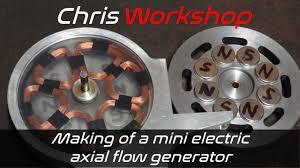 Making of a mini electric axial fllow generator YouTube