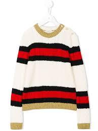 Gucci Kids полосатый джемпер | Витой орнамент для вязаного ...