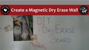 How to Create a Magnetic Dry Erase Wall - Easy DIY Project - YouTube