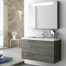 Modern  Inch Bathroom Vanity Set With Medicine Cabinet Grey - Oak bathroom vanity cabinets