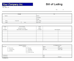 Free Bill Of Lading Template Photo 40 Free Bill Of Lading