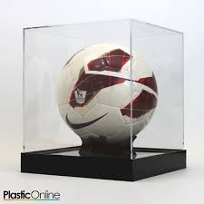 Football Display Stand Plastic ACRYLIC FOOTBALL Display Stand Ball Riser Plinth Signed 73