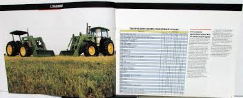 John Deere Compatibility Chart 1987 John Deere Dealer Sales Brochure Loaders Spreaders