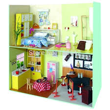 building doll furniture. Building Dollhouse Furniture Cute Living Room Miniature Doll House Wooden Model ,